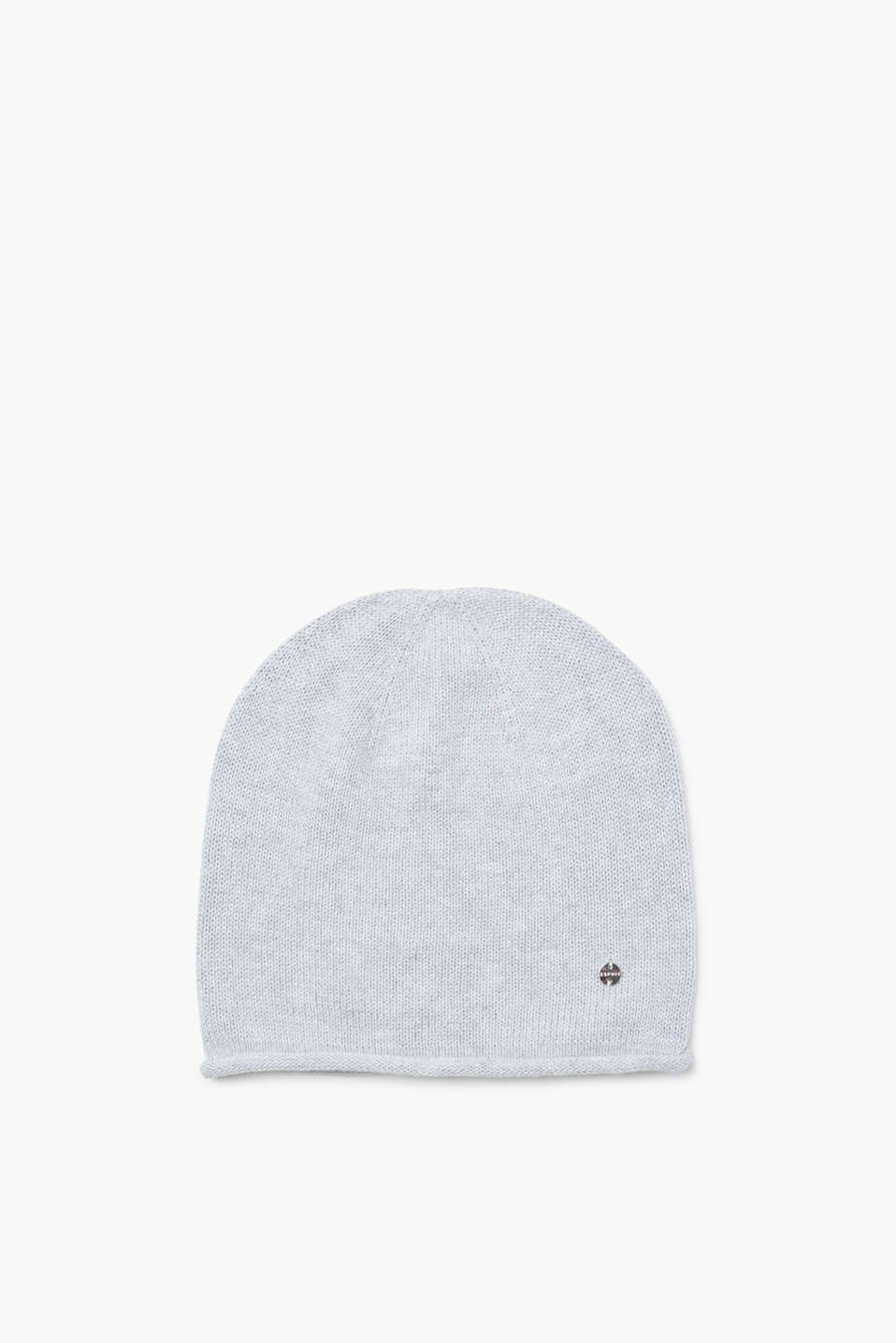 Soft beanie with a rolled edge, 100% cotton