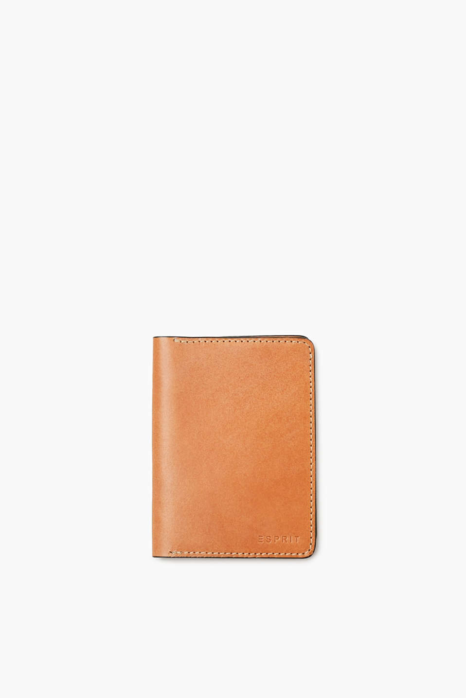 Travel in style! This passport holder in smooth split leather makes it easy!