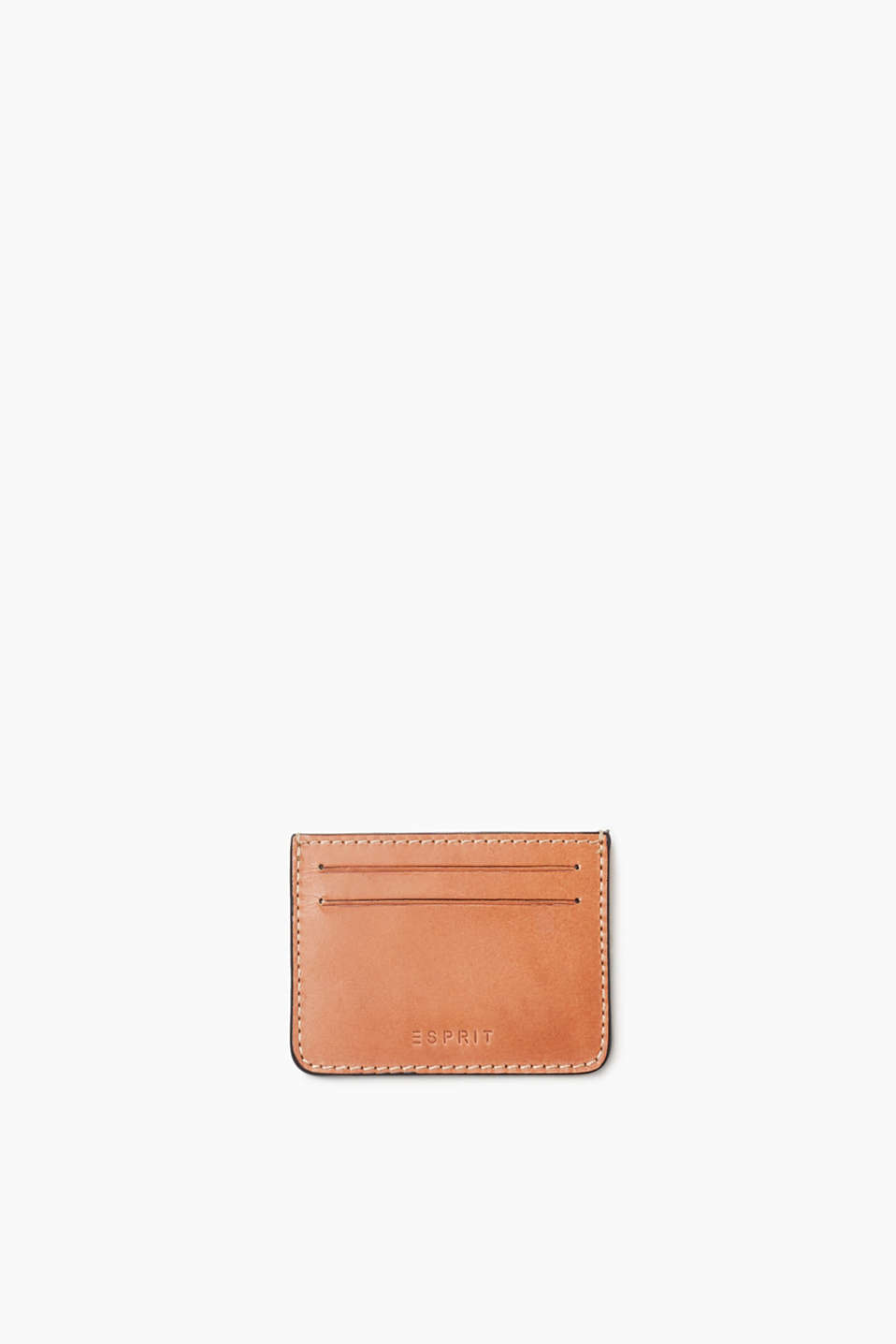 The smooth split cowhide only looks more striking with age – card holder in a compact design.