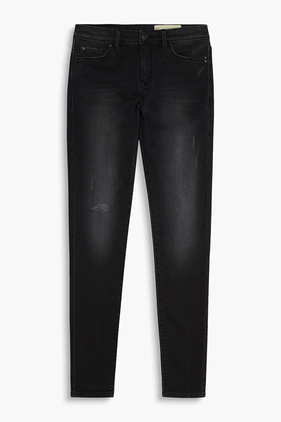 Schmale Black Denim aus Super Stretch