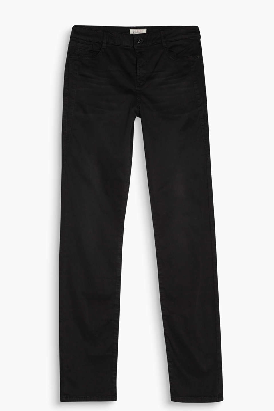 Exceptionally soft and smooth stretch trousers with garment-washed effects