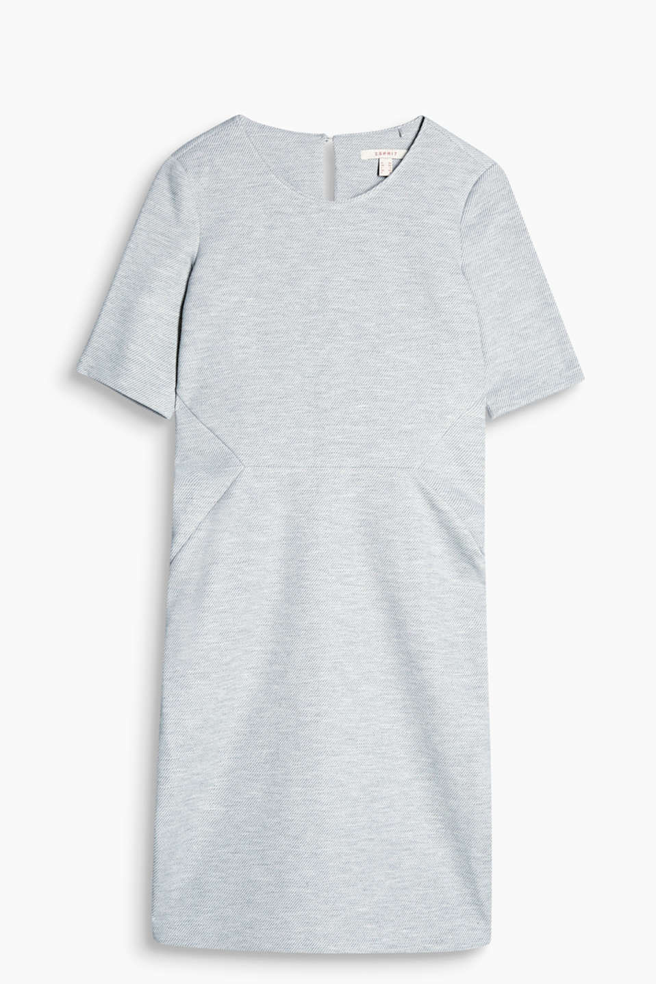 Stylish shift dress with a diagonal texture and figure-defining seams, jersey/stretch