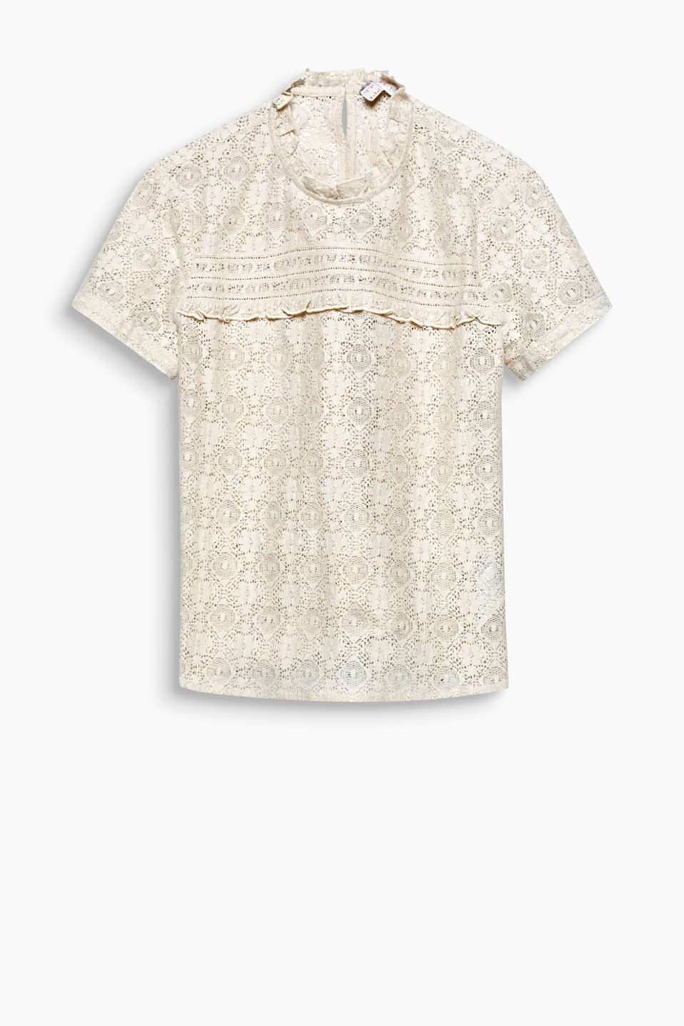 For a lacy romantic look: lightweight blended cotton blouse with frill details
