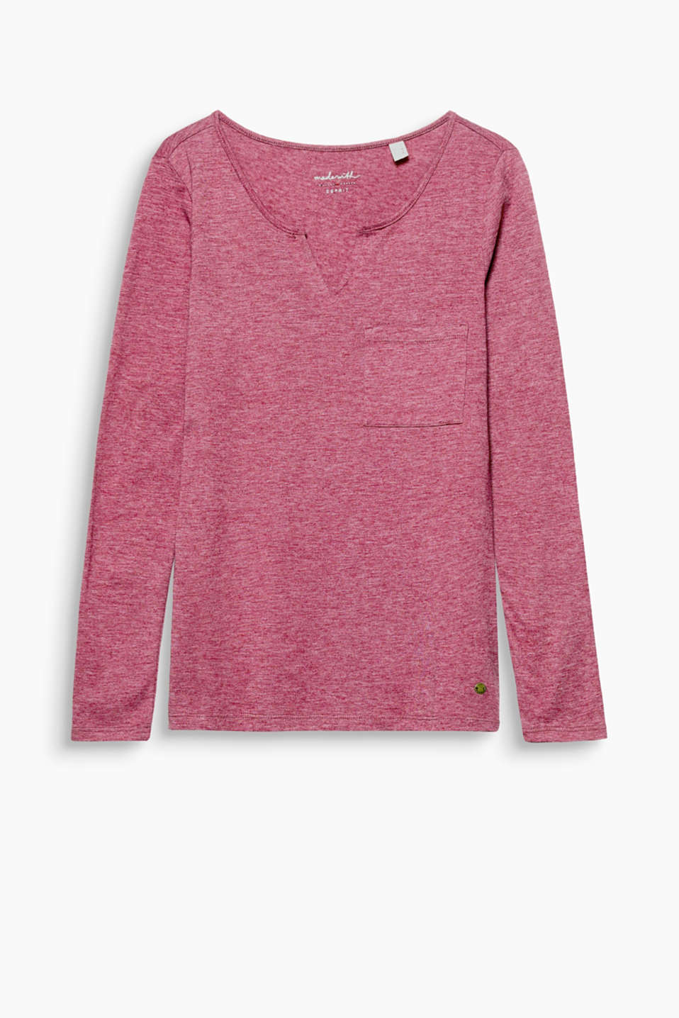 Casual and versatile, this long sleeve top with a Henley neckline can be worn on its own or under a cardigan or blazer!
