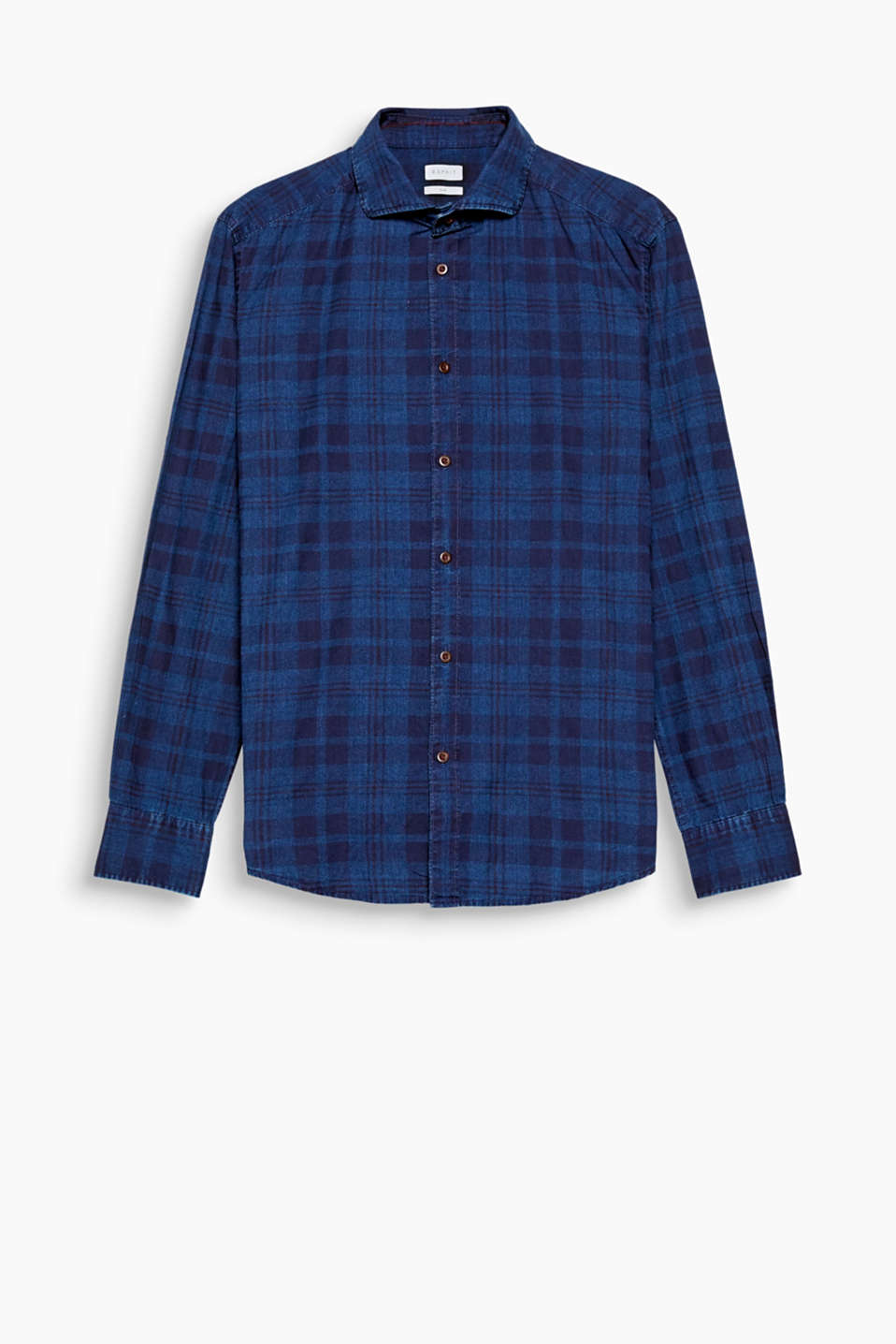 Denim and a tonal Glencheck pattern make this shirt an eye-catching urban, rustic piece