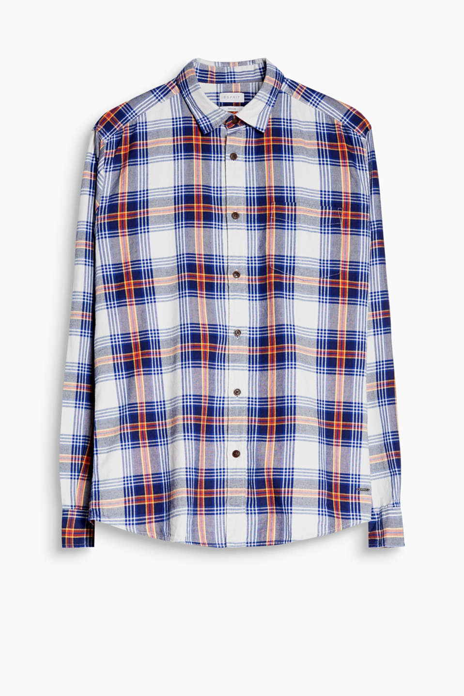 Soft and yarn dyed: shirt with a colourful, trendy check pattern, made of pure cotton