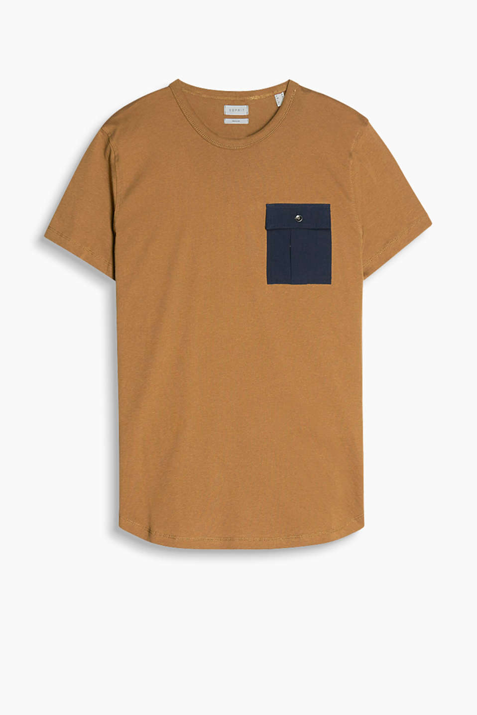 Jersey T-shirt with a patch breast pocket in 100% cotton