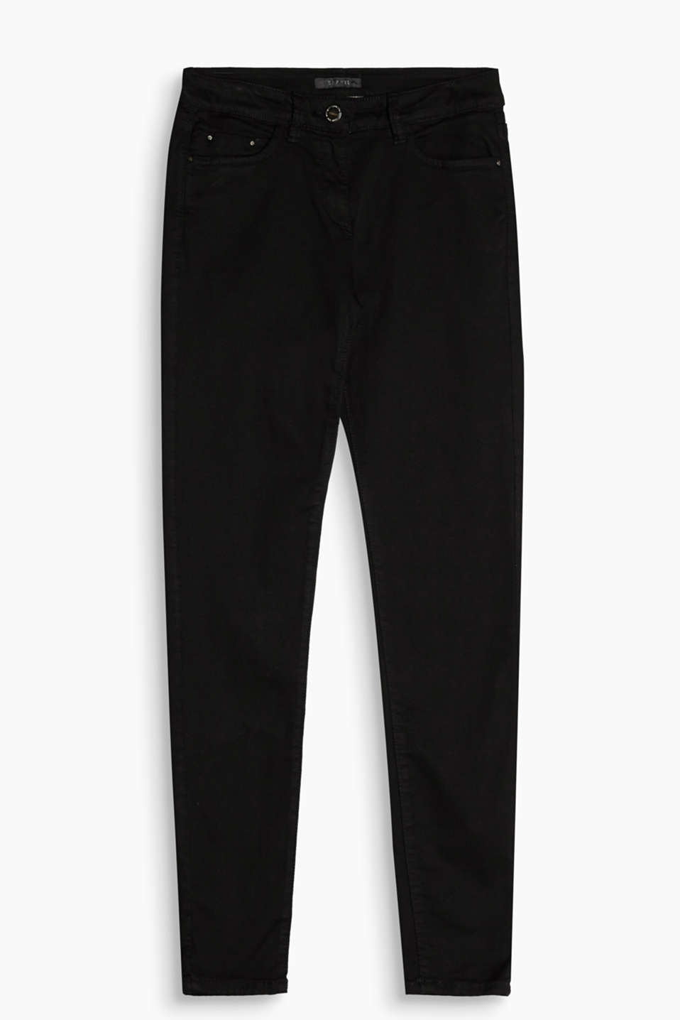 Figure-shaping: mega comfy, four-way stretch trousers in a five pocket design