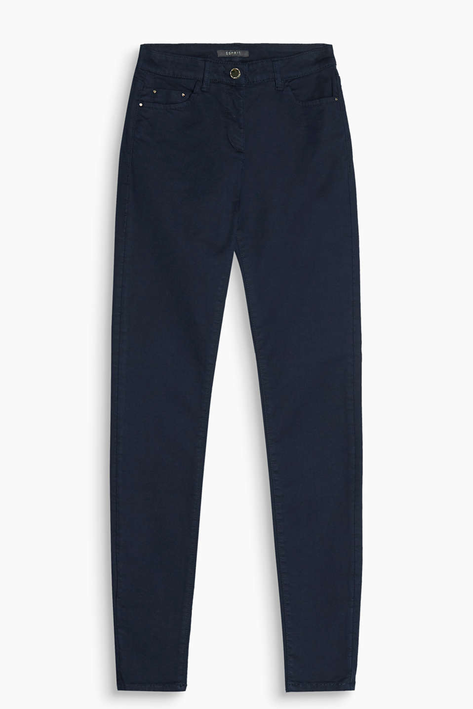 Figure-shaping 4-way stretch trousers with fashionable pockets