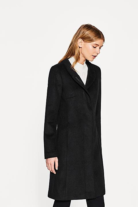 Mantel mit Stehbund, aus Woll-Mix