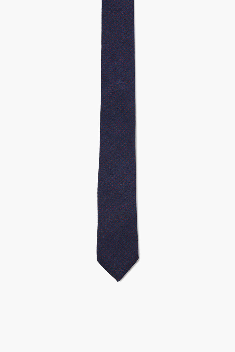 Pure wool tie with a polka dot pattern