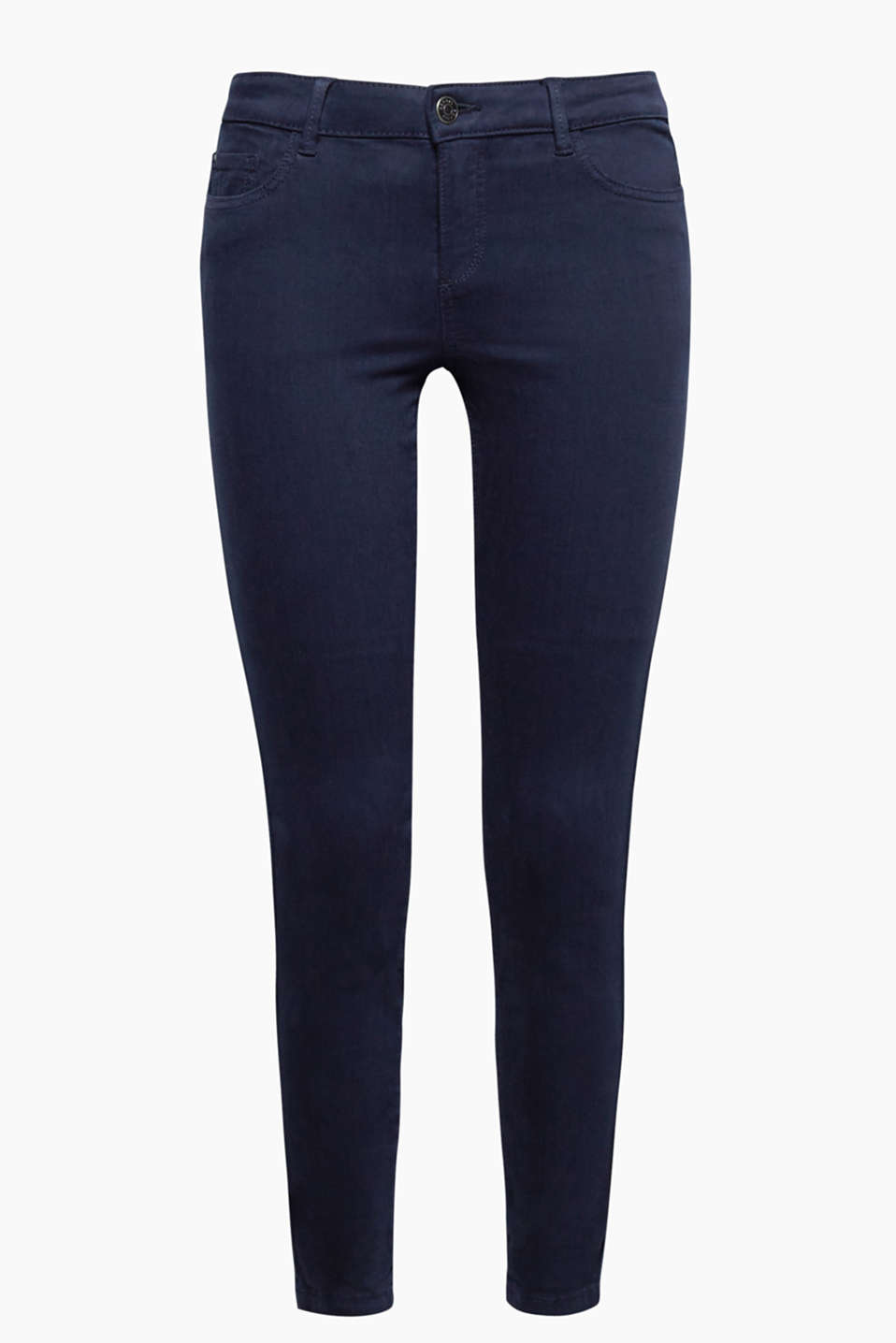 Show off your ankles! Skin-tight, 5 pocket trousers in a fashionably cropped cut.