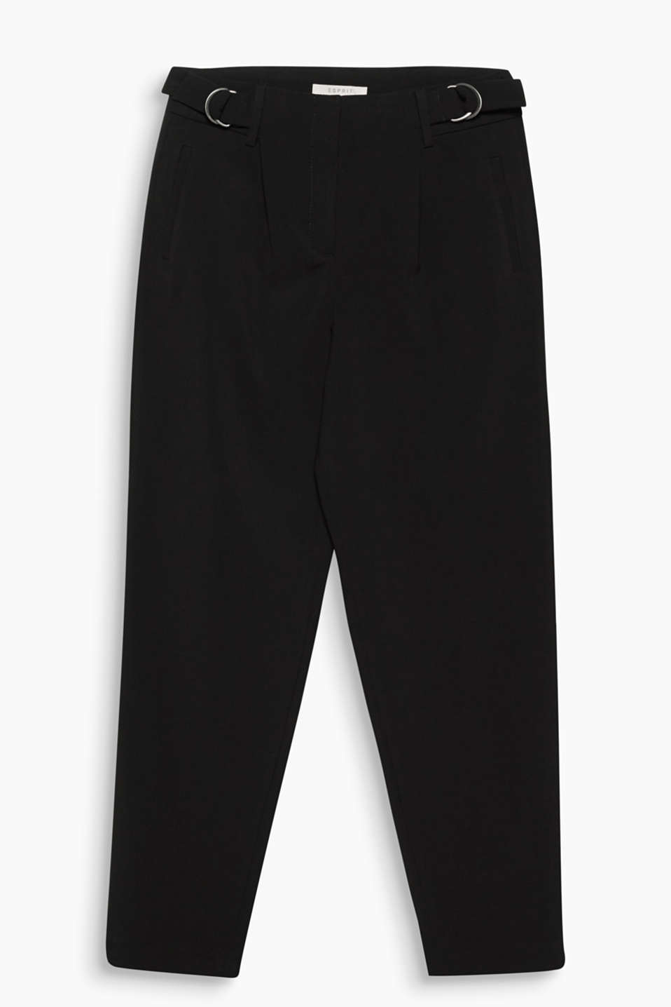 Wide trousers with cropped legs in a soft fabric blend with added stretch for comfort