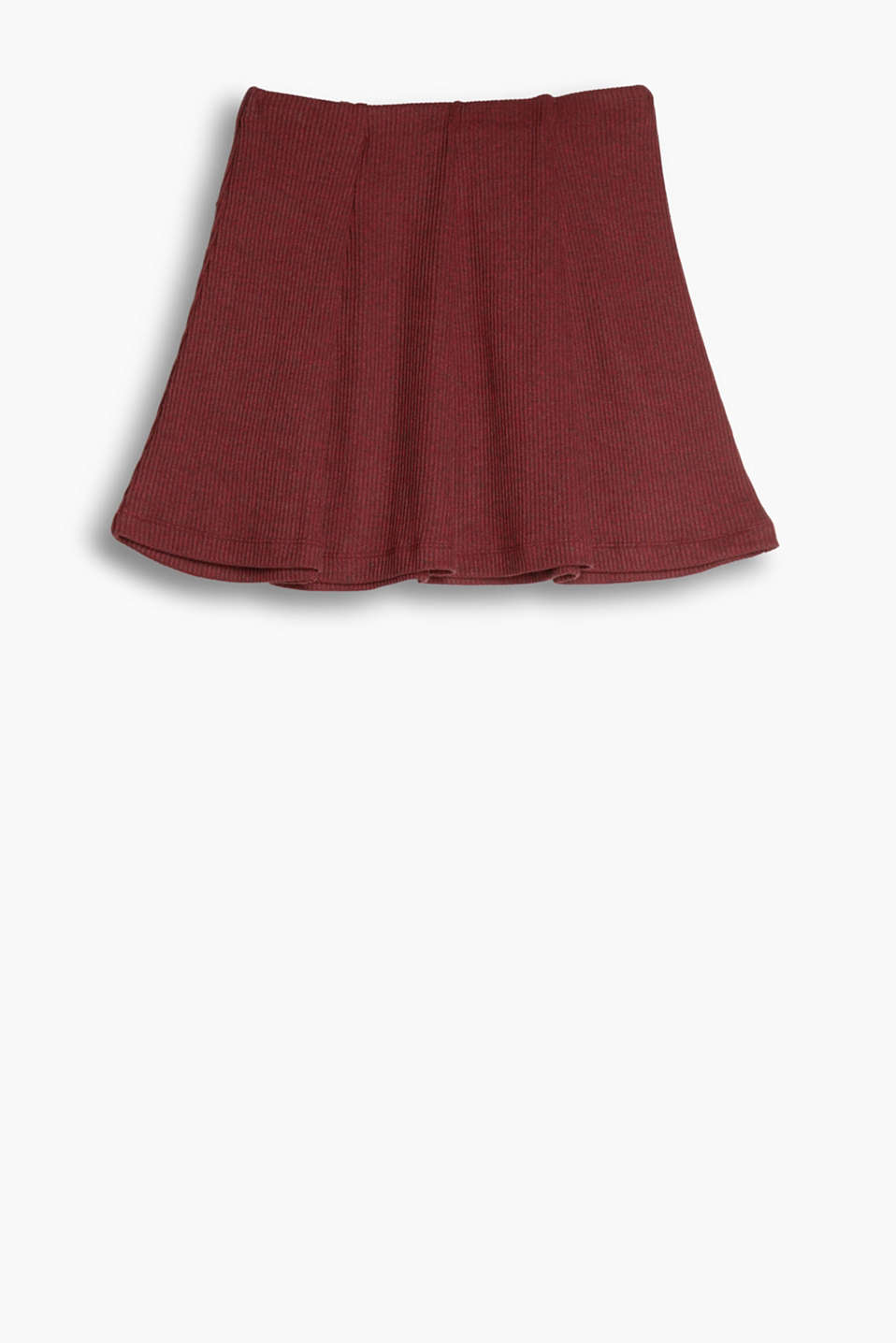 Twirl into autumn: This flared skirt in melange ribbed jersey will spice up your style!