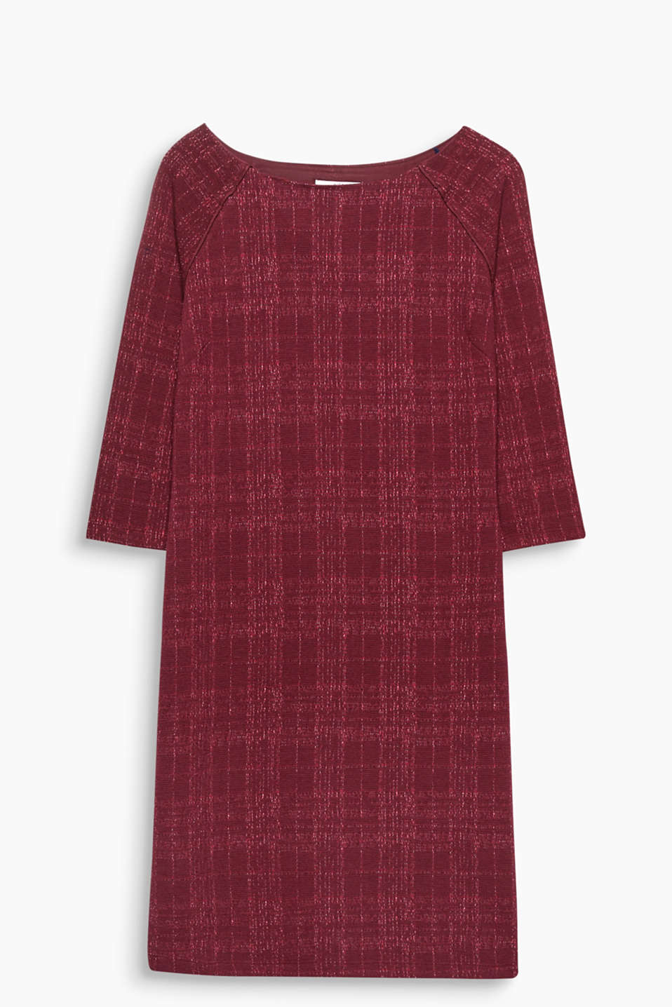 Body-hugging and so comfortable: sheath dress in thick stretch jersey with a trendy check texture