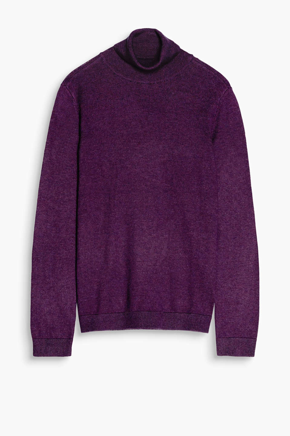 Soft and silky: a beautiful polo neck jumper with stunning hem slits has to be an autumn must-have!