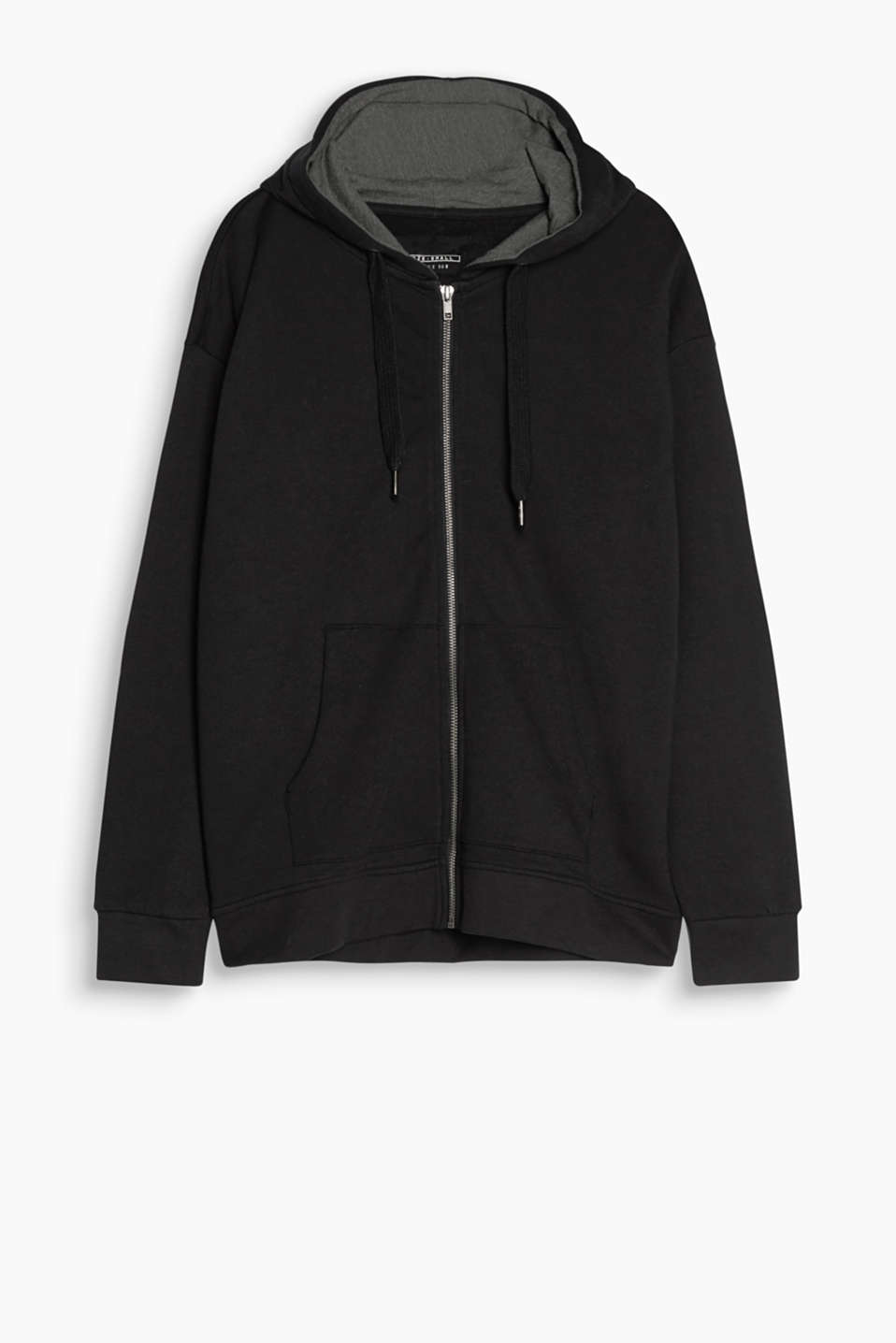 Comfy style for relaxed looks: Hooded sweatshirt jacket in soft cotton material