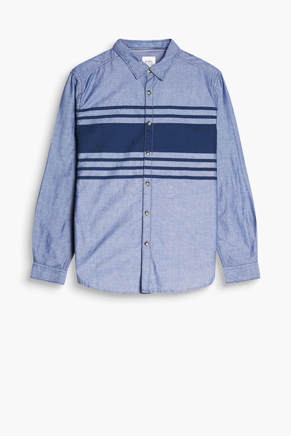 Bold painted stripes and cotton-chambray – a casual highlight piece!