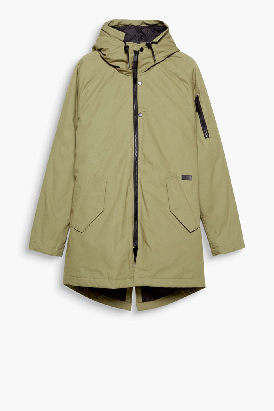 Keep cool, stay warm! On-trend hooded parka for the cold season