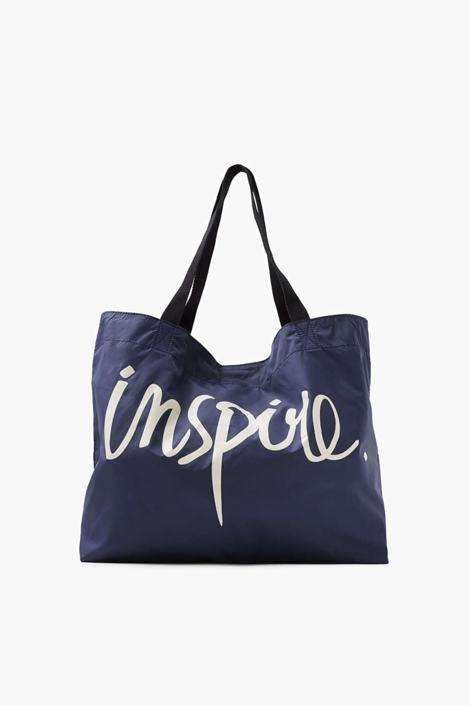 Inspire! A print that makes a statement. This reversible shopper with a logo print impresses with its tartan pattern.