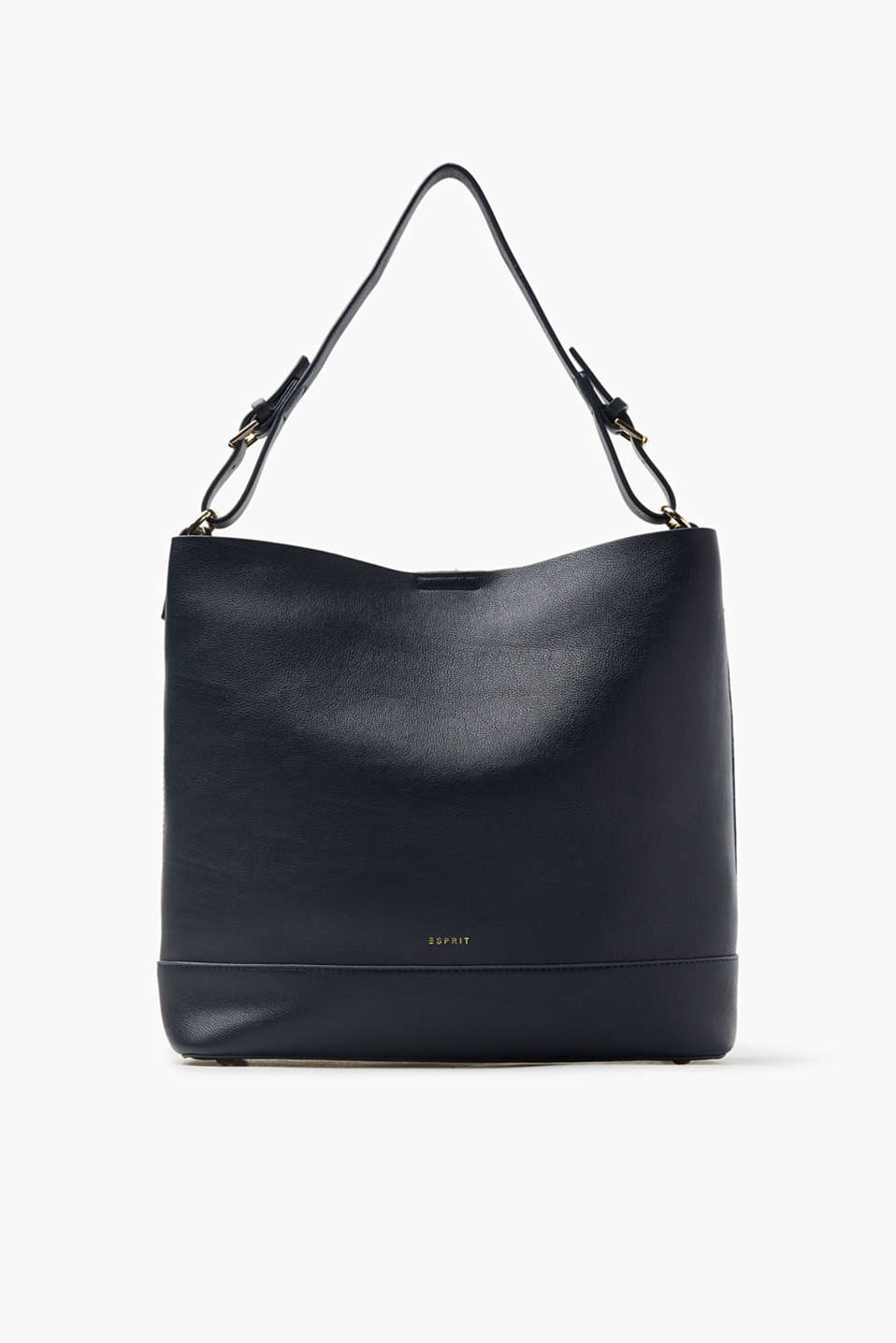 This faux leather hobo bag guarantees a cool and versatile look.