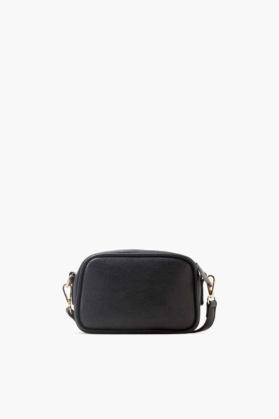 Your daily essential! Small shoulder bag with a length-adjustable shoulder strap, made of smooth faux leather