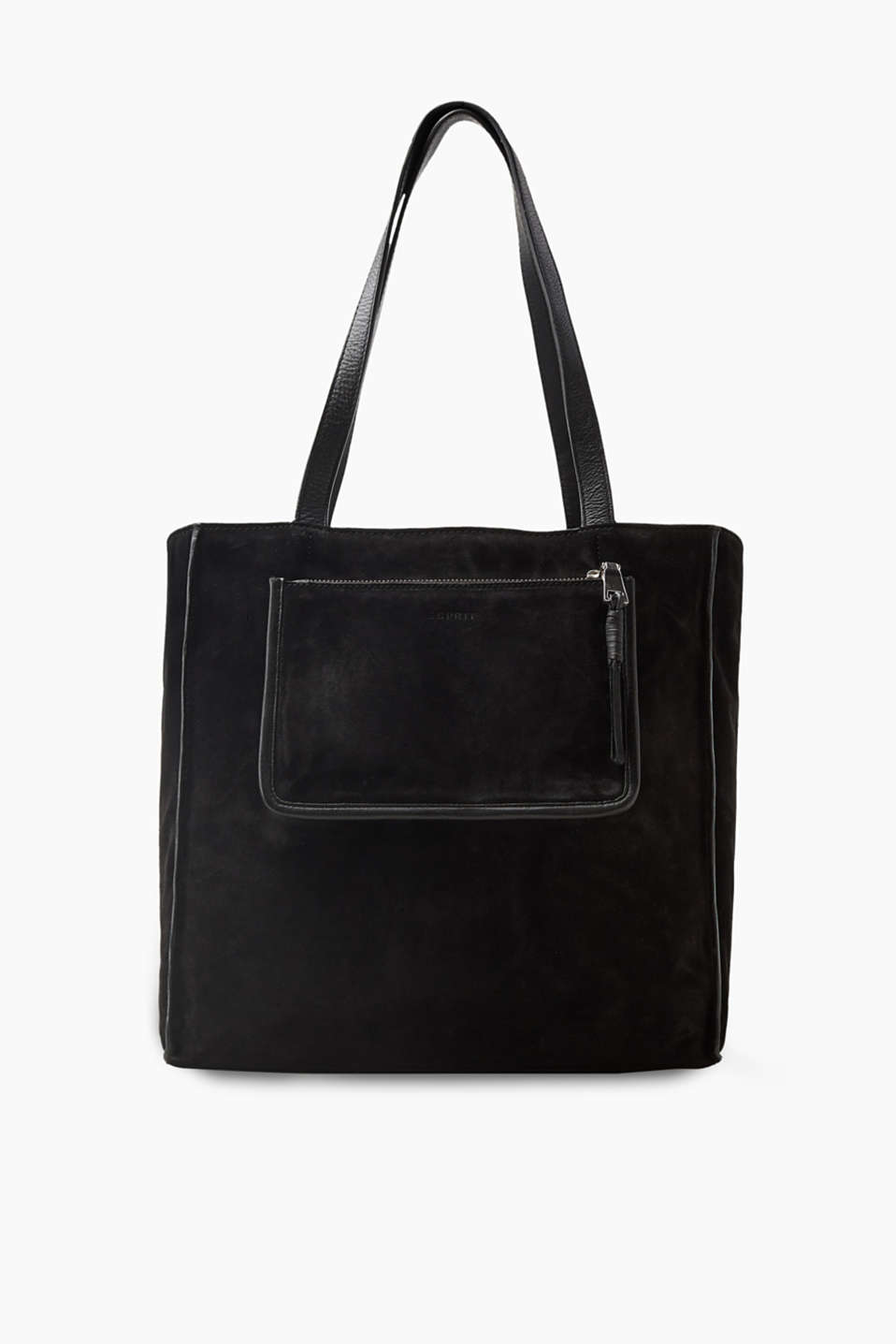 This shoulder bag with a distinctive zip pocket in high-quality suede is an everyday favourite