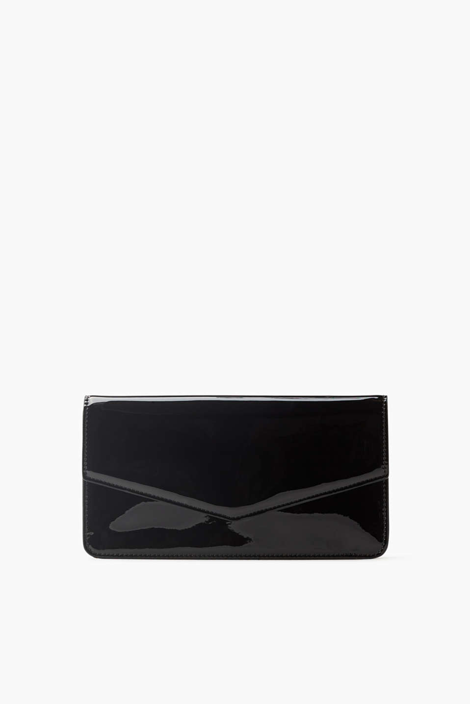 Timeless and elegant! Clutch in a high-shine patent leather look