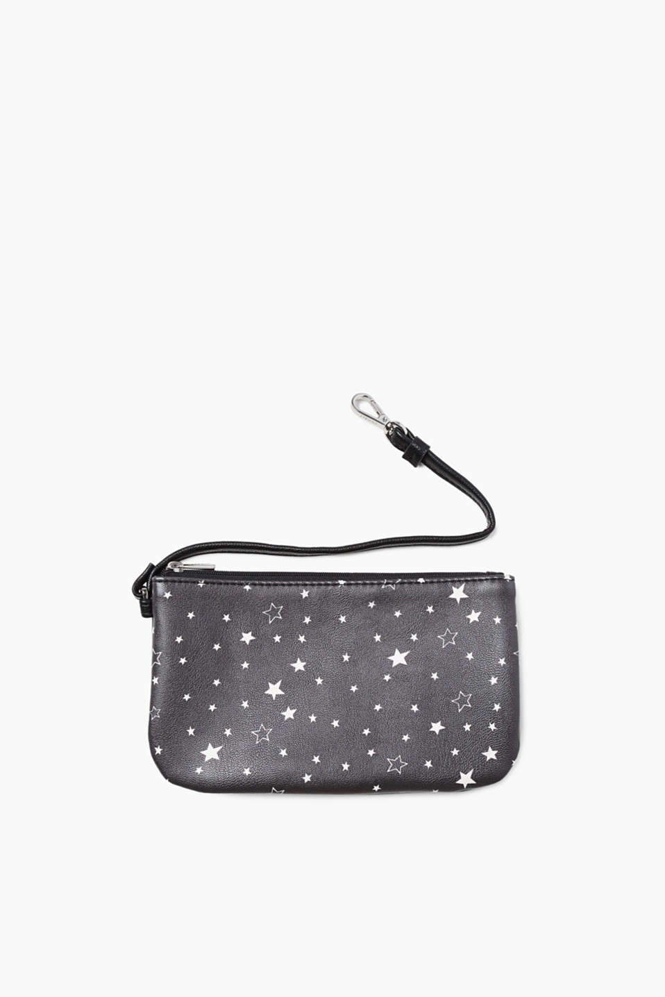 Written in the Stars! Etui in glatter Leder-Optik mit Allover-Stern-Print