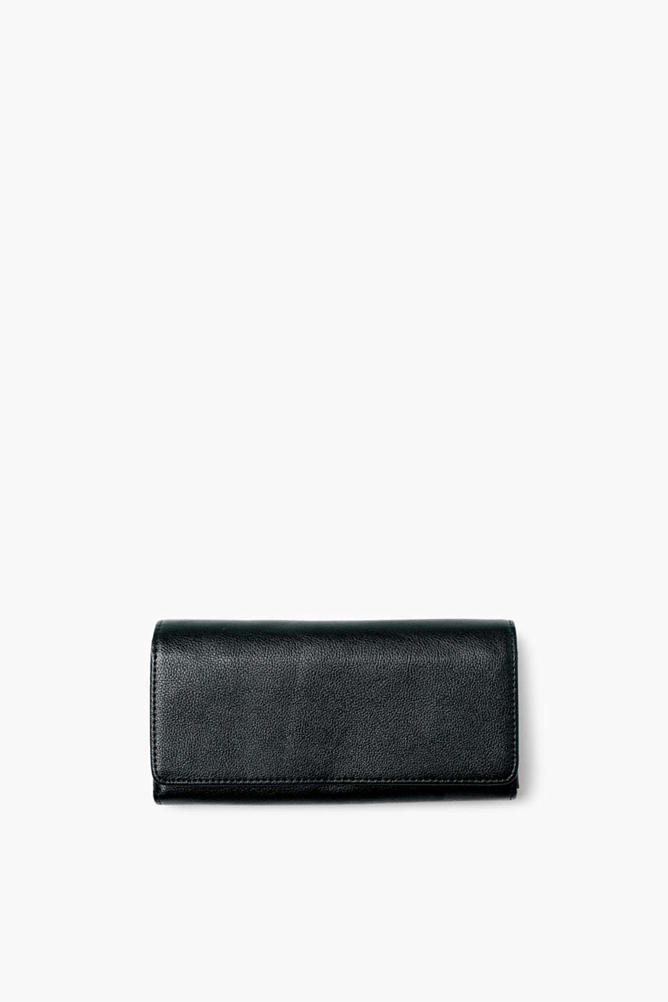 Practical and classic! This waiter-style purse impresses with its timeless smooth faux leather.