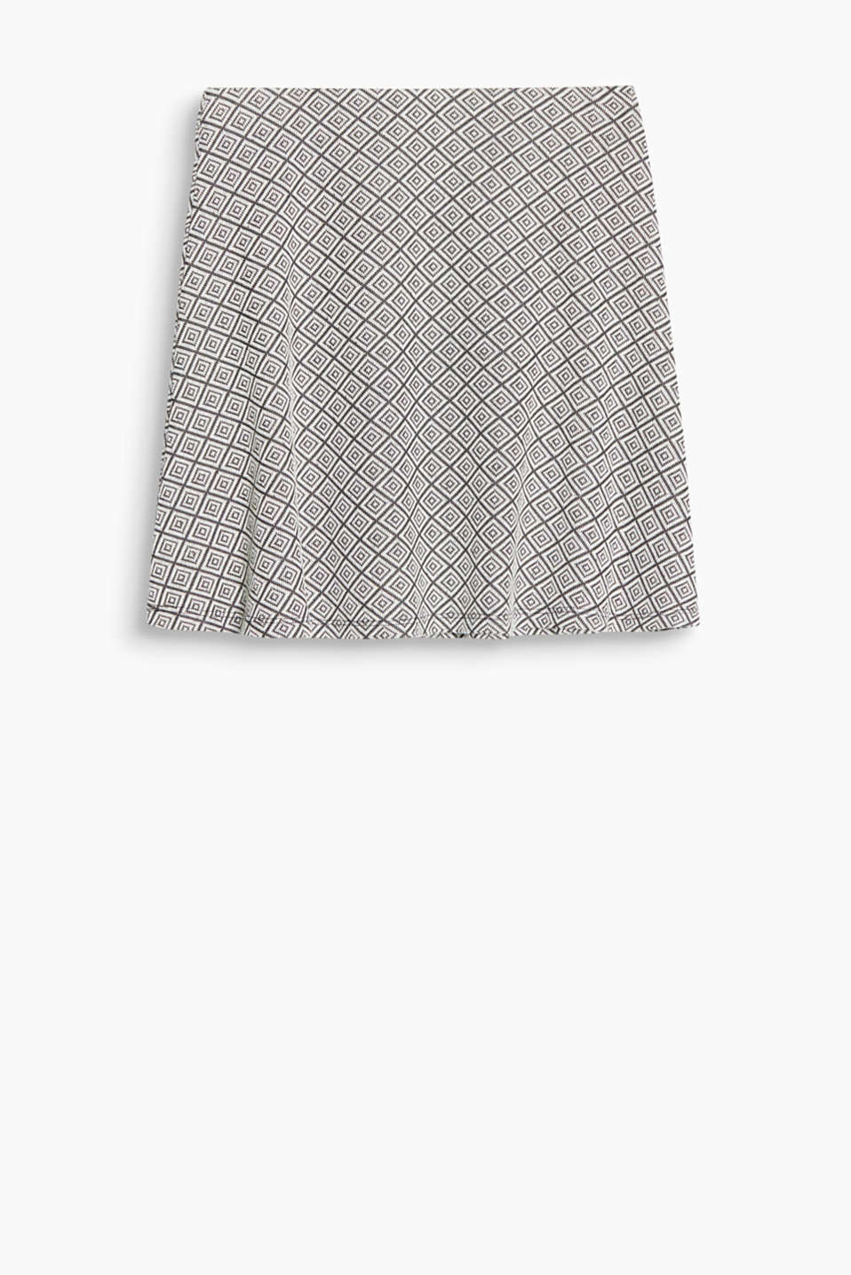 For a full-swing retro look: jacquard skirt made of soft jersey in a feminine A-line