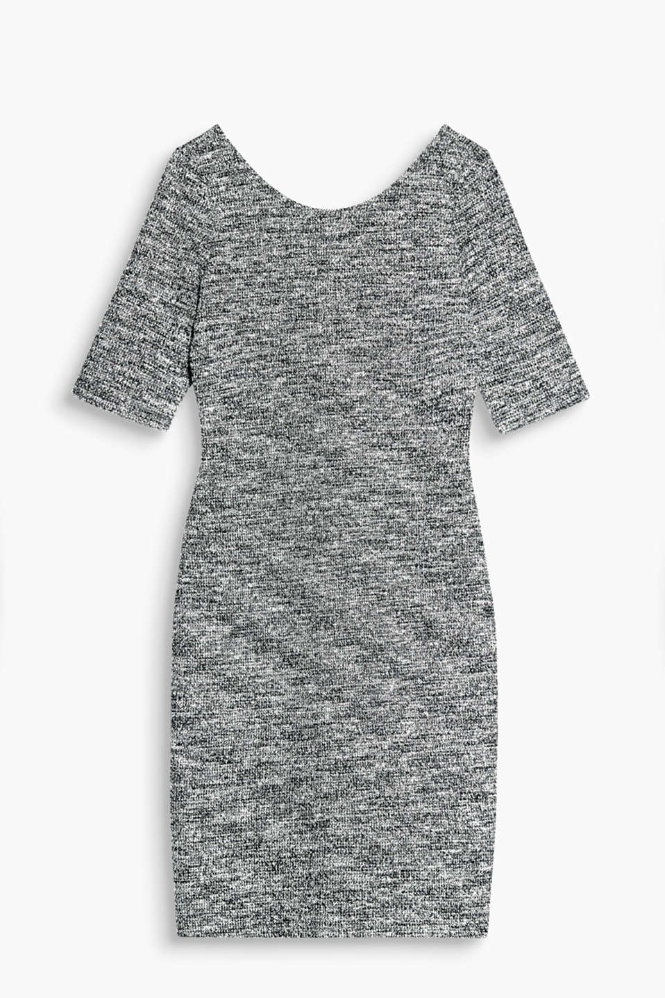 New feminine style is ultra-comfortable - just like this figure-enhancing melange dress in textured jersey!