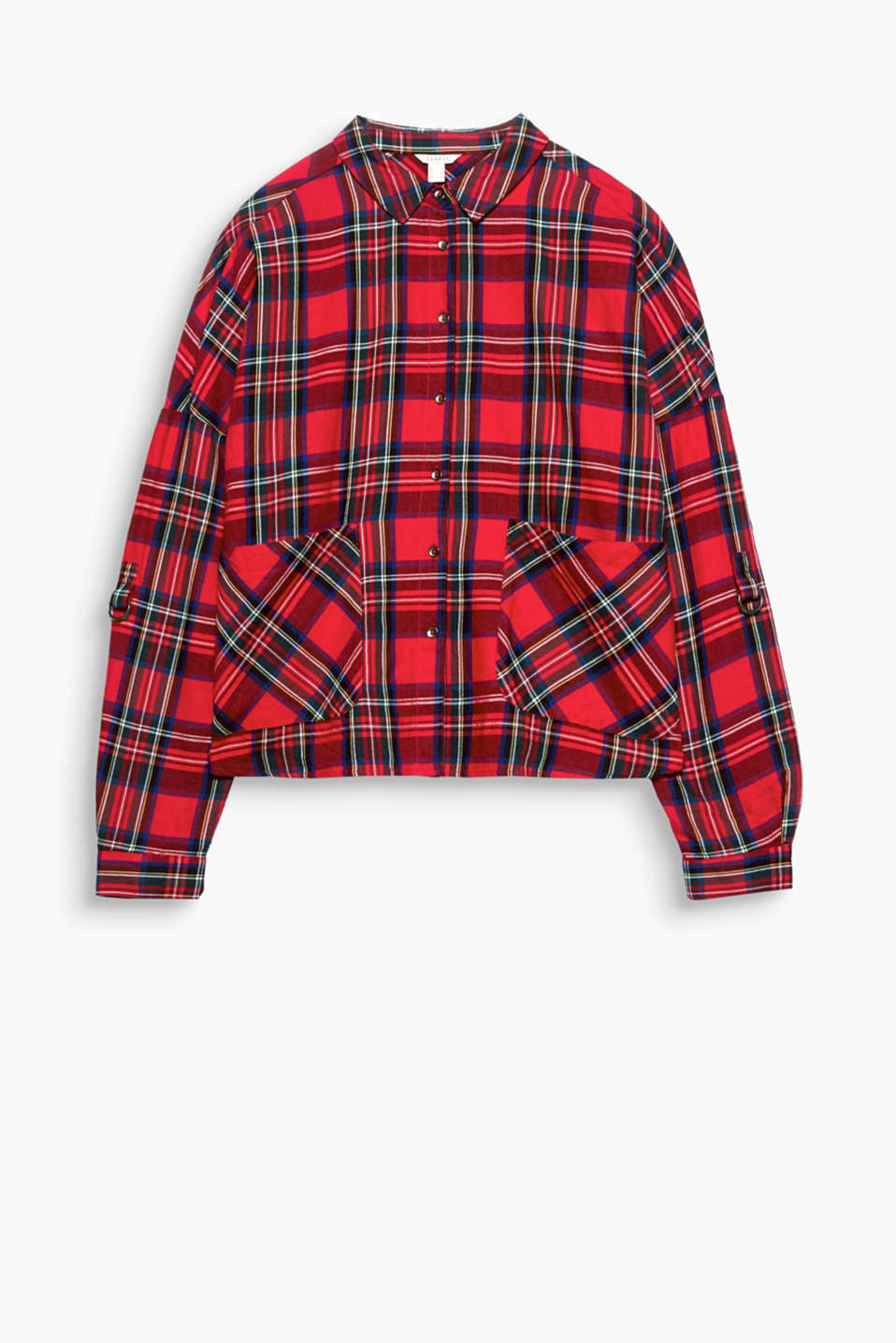 Checks with a twist: The cropped boxy oversize fit makes the classic checks on this blouse look so stylish!