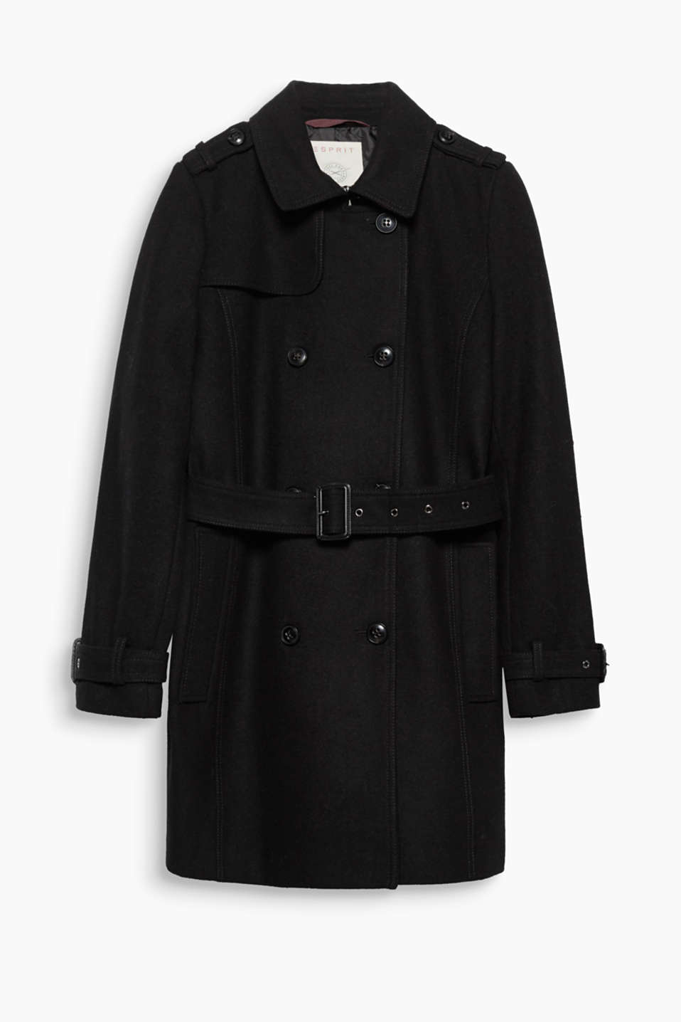 A classic trench coat becomes winter-ready thanks to blended wool and warm padding!
