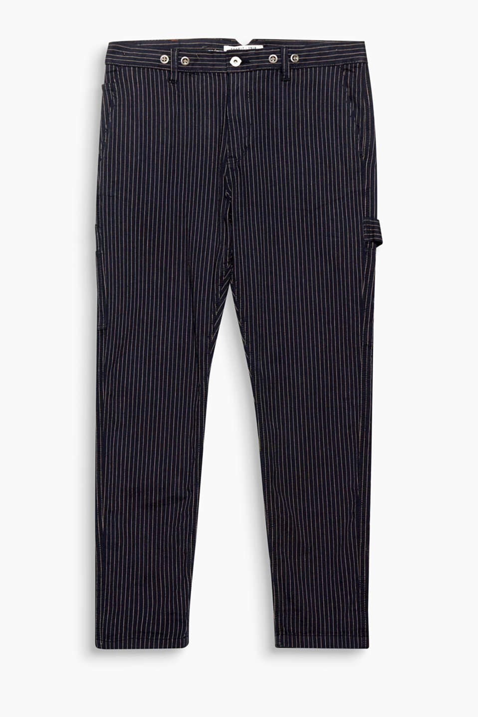 Vertical stripes and a herringbone pattern! Casual trousers – inspired by workwear!