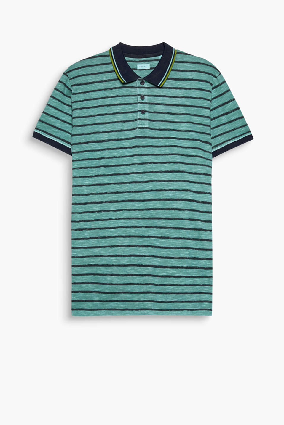 Light and breezy: the airy texture and uneven stripes give this polo shirt its easy style!