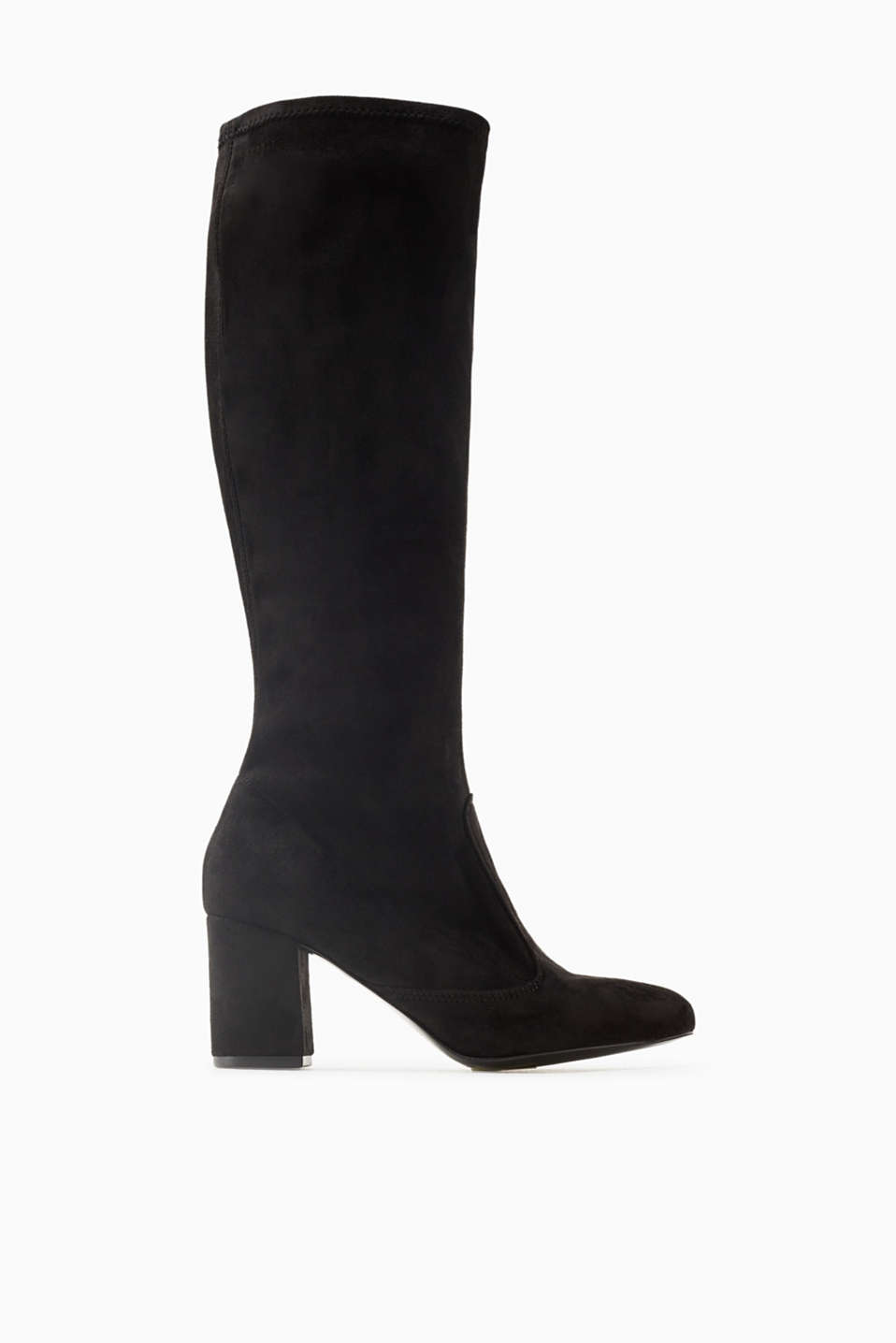 Timeless and everyday! These long faux suede boots with a block heel with become your favourites
