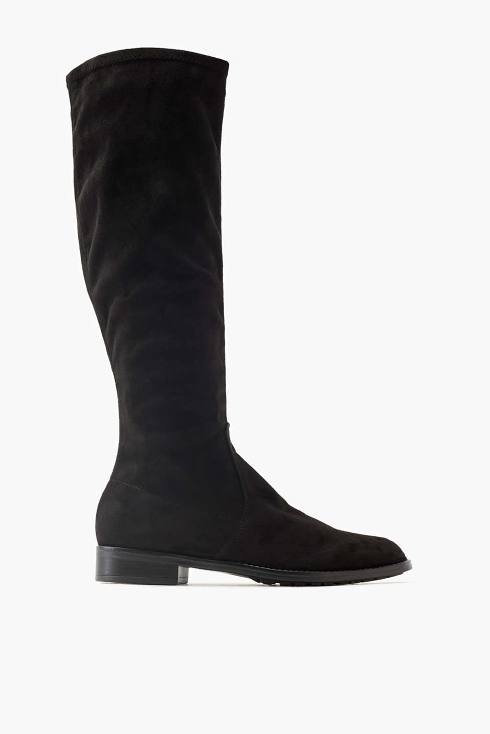 Your boots for between the seasons: knee-high boots with an elasticated microfibre shaft and a non-slip sole.