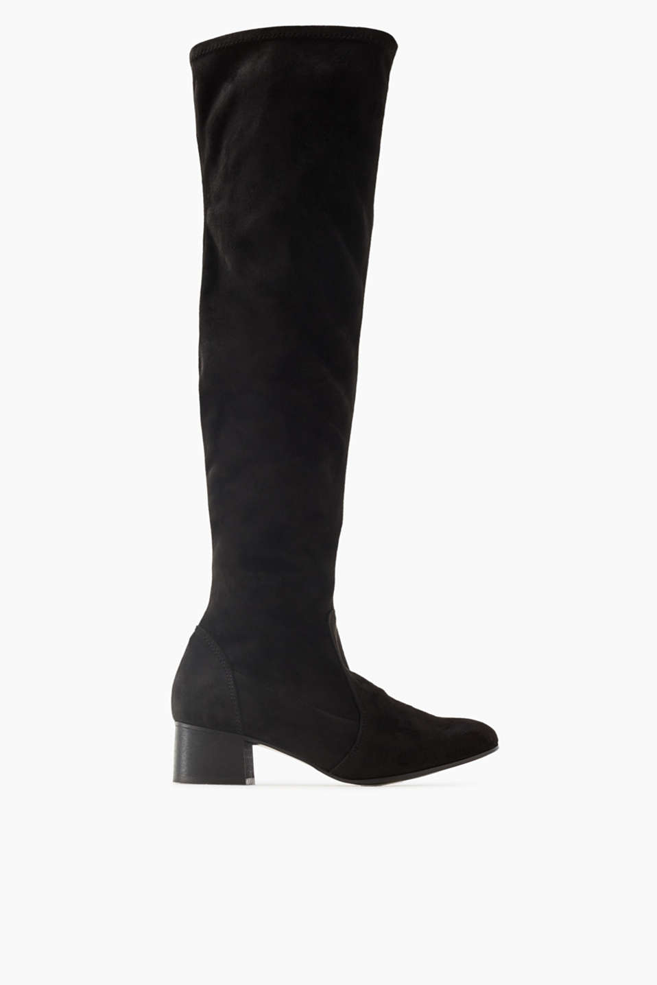 We love over-the-knee boots! This casual design with an elasticated shaft and a block heel will be your autumn favourite