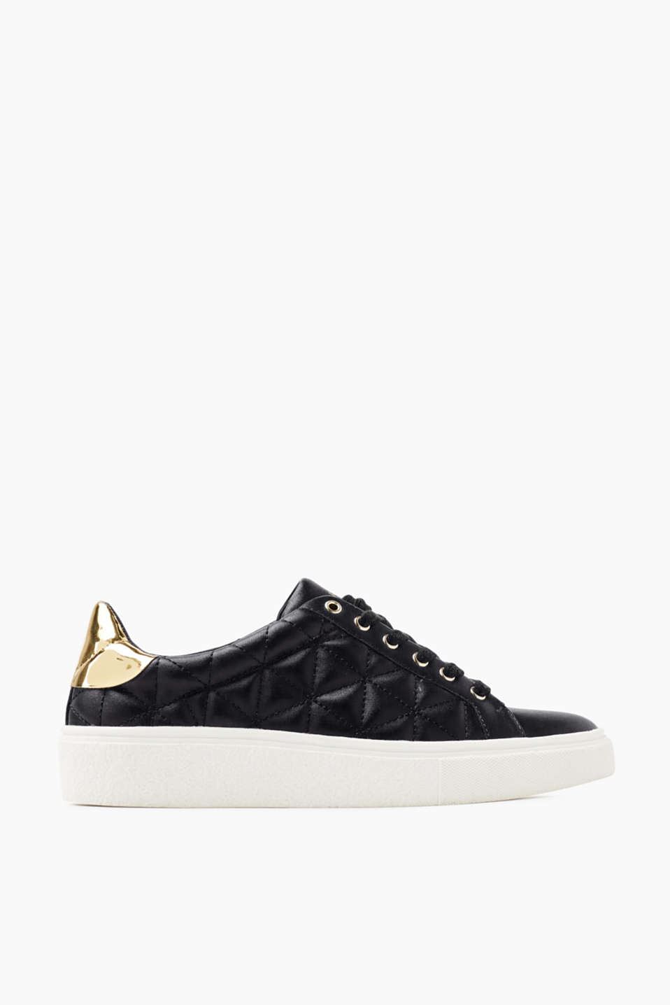 We love trainers! These trainers are defined by their distinctive diamond quilting and metallic details