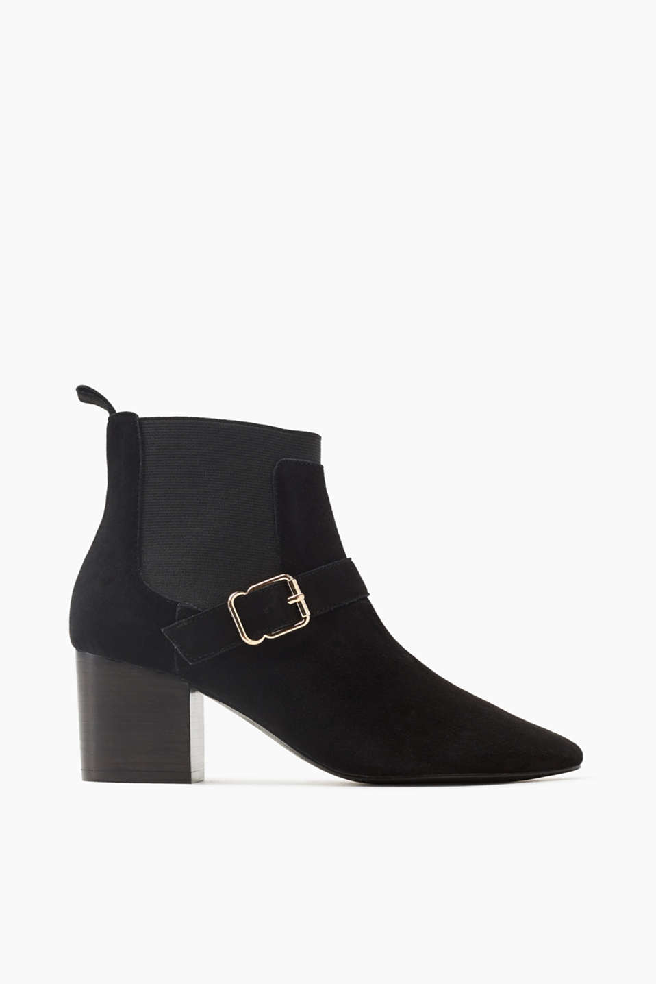 Your everyday boot! A wide block heel makes these suede ankle boots an autumn favourite.