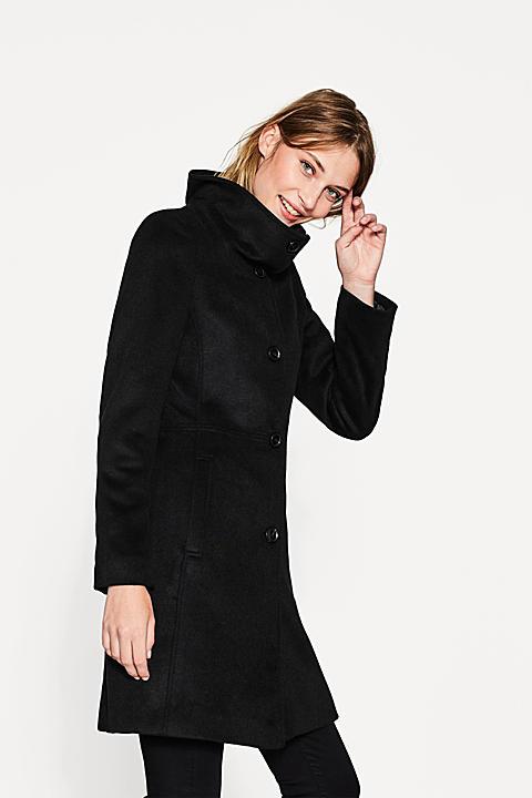 Taillierter Mantel aus Woll-Mix