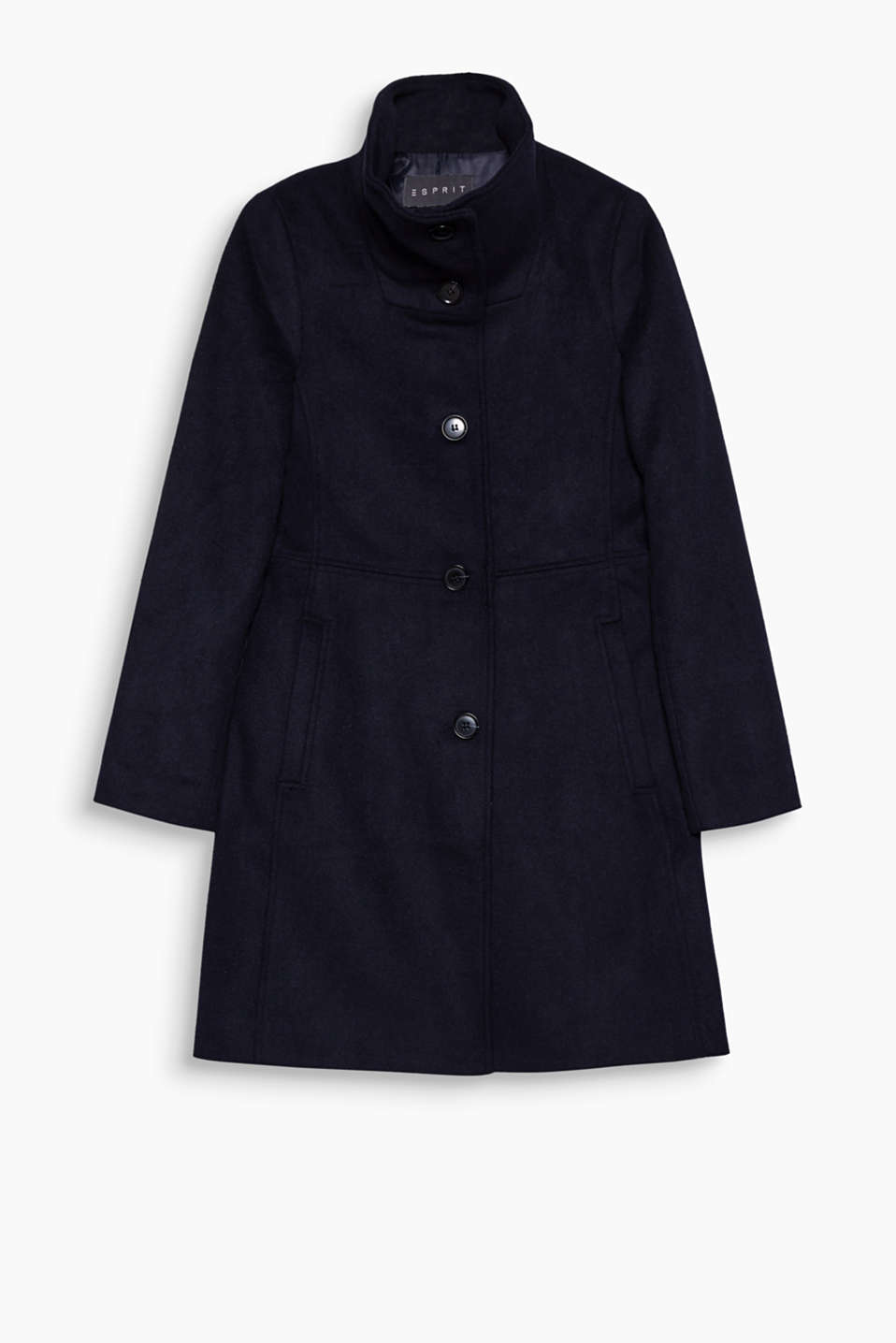 You can create a variety of different looks with this timelessly classic coat made of soft blended wool