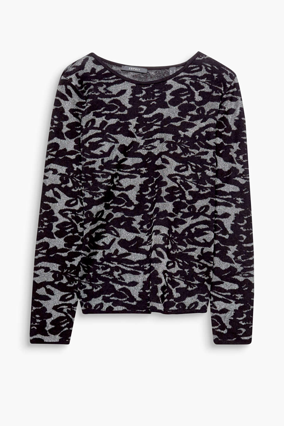 Fantastic for special occasions or simply chic with your fave skinnies: fitted jumper with floral intarsia