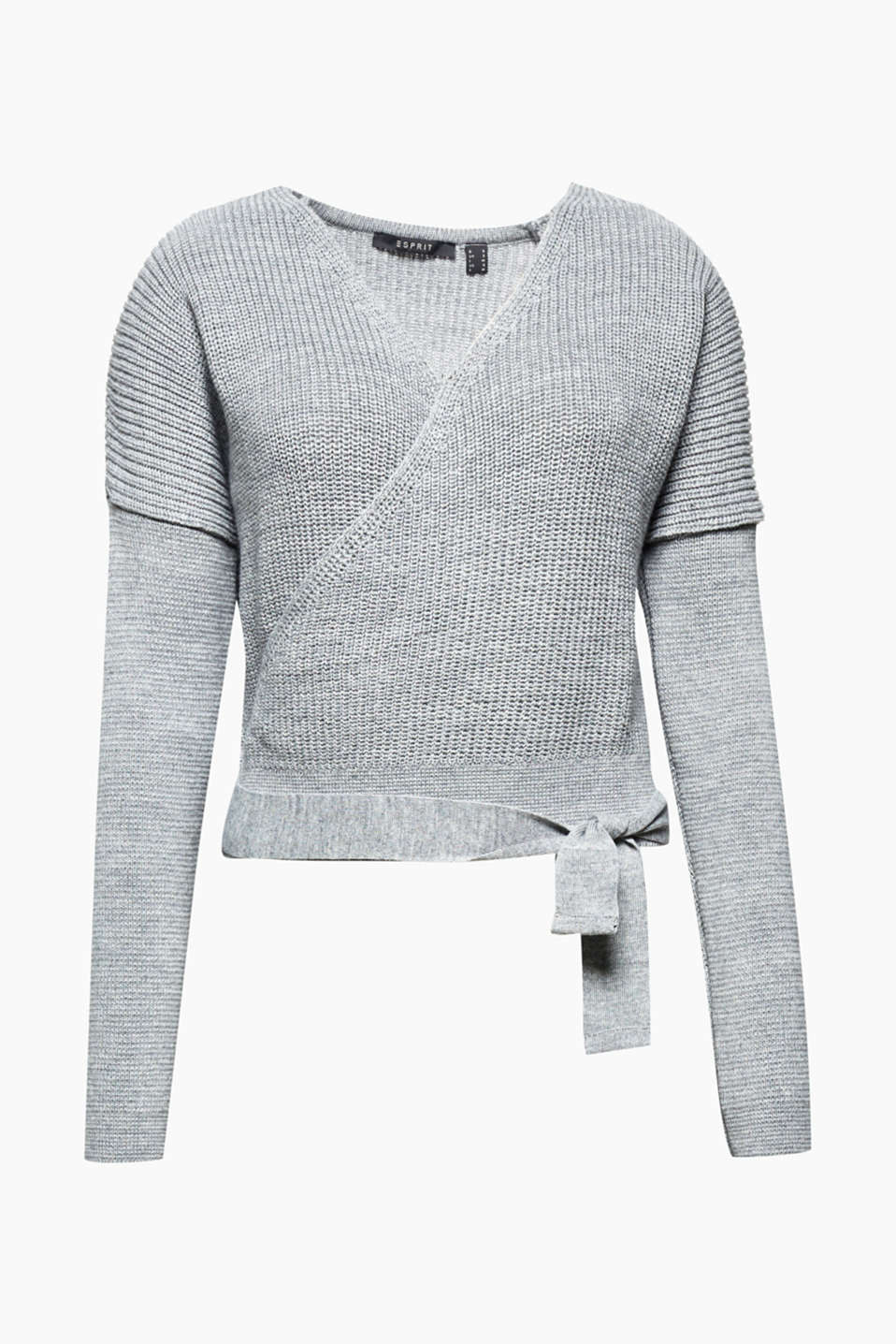 Brilliantly wrapped up: this feminine cardigan in a compact knit will be your favourite piece for between the seasons!