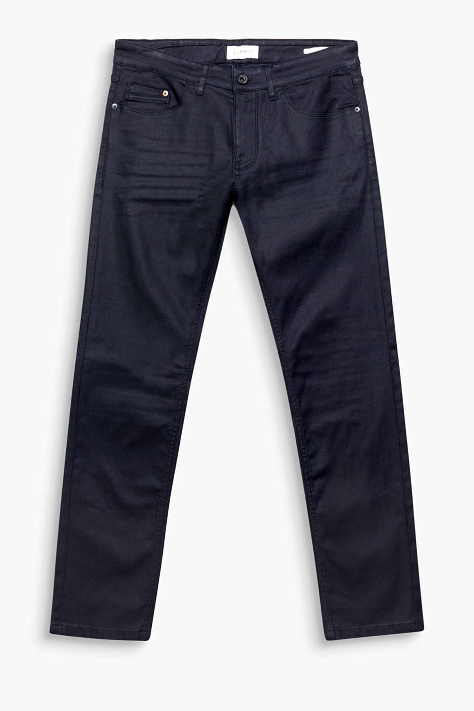 Coated and stretchy! These five-pocket jeans impress with their matte coating.