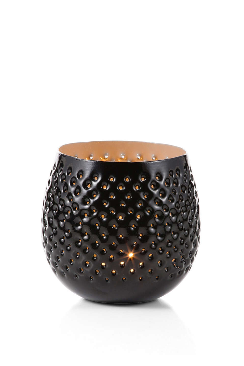 with a fine perforated pattern, 10 cm high
