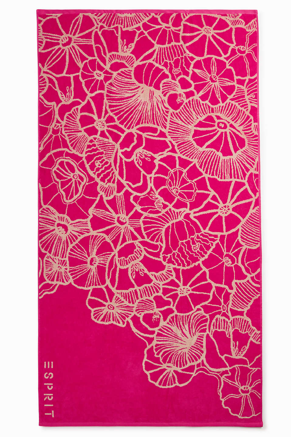 Extra large beach towel with a floral pattern