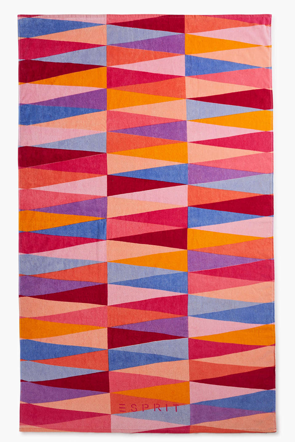 Beach towel in a large format with a jazzy, geometric print