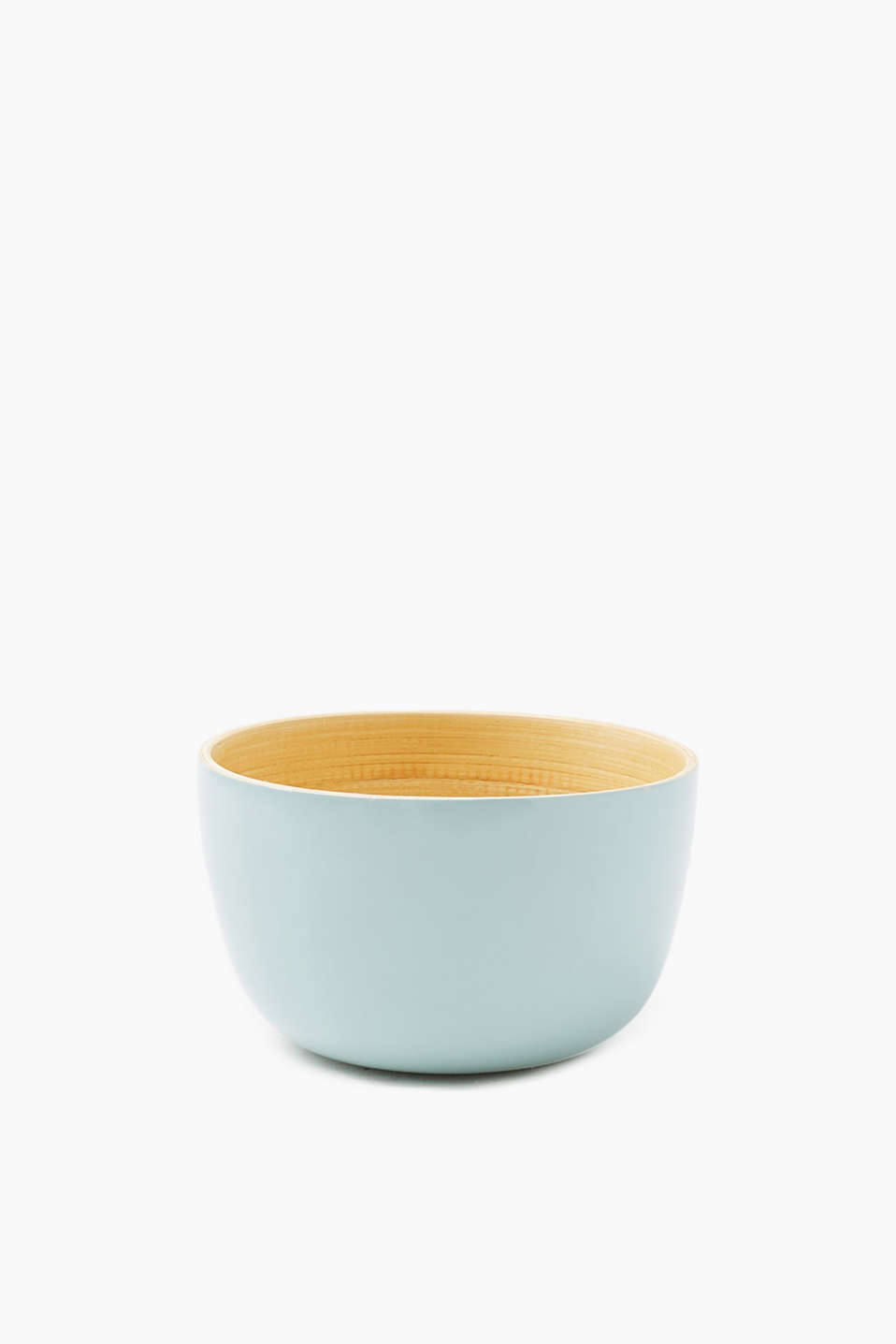 Decorative wooden bowl coated in a pastel tone, Clover